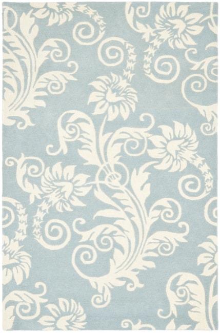 Safavieh Handmade New Zealand Wool Paris Blue Rug - 7'6 x 9'6