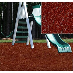 Kidwise Red Rubber Playground Mulch