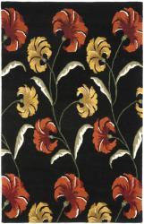 Safavieh Handmade New Zealand Wool Botanical Black Rug (5'x 8')