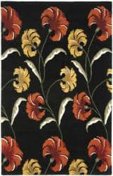 Safavieh Handmade New Zealand Wool Botanical Black Rug - 7'6 x 9'6