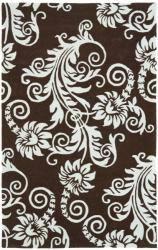 Safavieh Handmade New Zealand Wool Paris Brown/ Blue Rug - 7'6 x 9'6