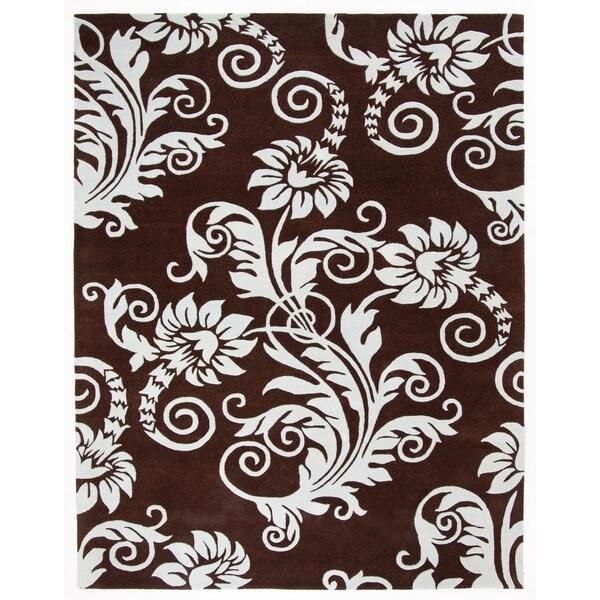 "Safavieh Handmade New Zealand Wool Paris Brown/ Blue Rug - 7'6"" x 9'6"""