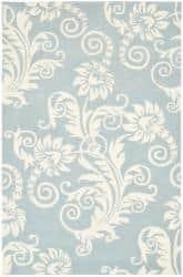 Safavieh Handmade New Zealand Wool Paris Blue Rug - 5'x 8'