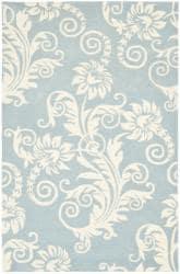Safavieh Handmade New Zealand Wool Paris Blue Rug (3'6 x 5'6')