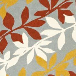 Safavieh Handmade New Zealand Wool Barber Blue Rug (3'6 x 5'6') - Thumbnail 2