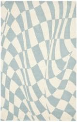 Safavieh Handmade Soho Modern Abstract Blue Wool Rug - 7'6 x 9'6 - Thumbnail 0