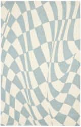 Safavieh Handmade Soho Modern Abstract Blue Wool Rug - 7'6 x 9'6