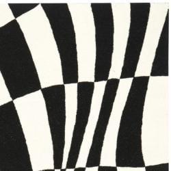 Safavieh Handmade Soho Modern Abstract Black Wool Rug (7' 6 x 9' 6) - Thumbnail 1