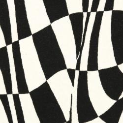 Safavieh Handmade Soho Modern Abstract Black Wool Rug (7' 6 x 9' 6) - Thumbnail 2