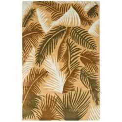 Safavieh Handmade New Zealand Wool Fern Beige Rug - 7'6 x 9'6 - Thumbnail 0