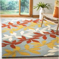 Safavieh Handmade New Zealand Wool Barber Blue Rug - 5' x 8'