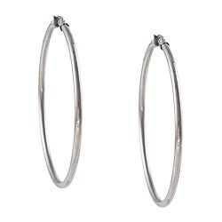 La Preciosa Stainless Steel 65-mm Hoop Earrings
