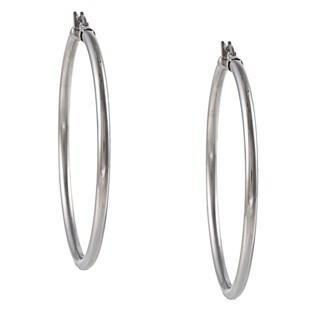 La Preciosa Stainless Steel 3-mm Hoop Earrings