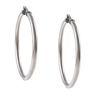 Link to La Preciosa Stainless Steel 4mm Hoop Earrings Similar Items in Earrings