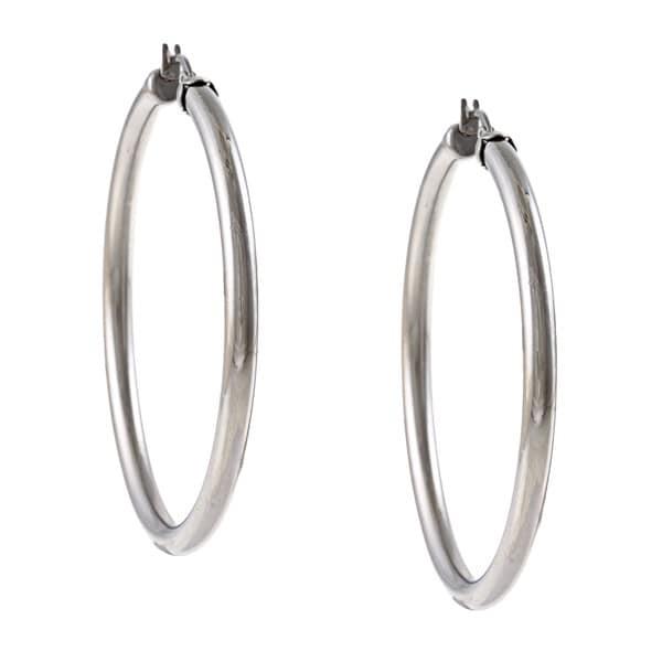 La Preciosa Stainless Steel 4mm Hoop Earrings