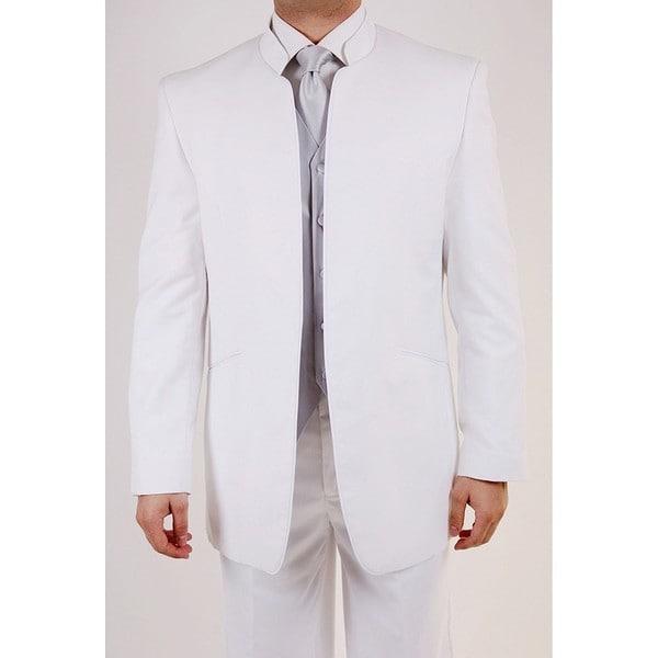 Ferrecci Men's White Mandarin Collar Tuxedo