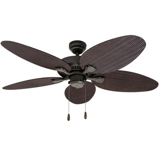 EcoSure Siesta Key 52-inch Tropcial Bronze Indoor/ Outdoor Ceiling Fan with Wicker Blades and Remote Control