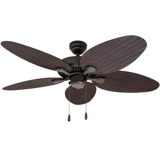 Beau EcoSure Siesta Key 52 Inch Tropcial Bronze Indoor/ Outdoor Ceiling Fan With  Wicker Blades