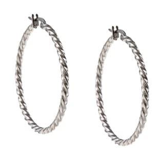 Link to La Preciosa Stainless Steel 2mm Twisted Hoop Earrings Similar Items in Earrings