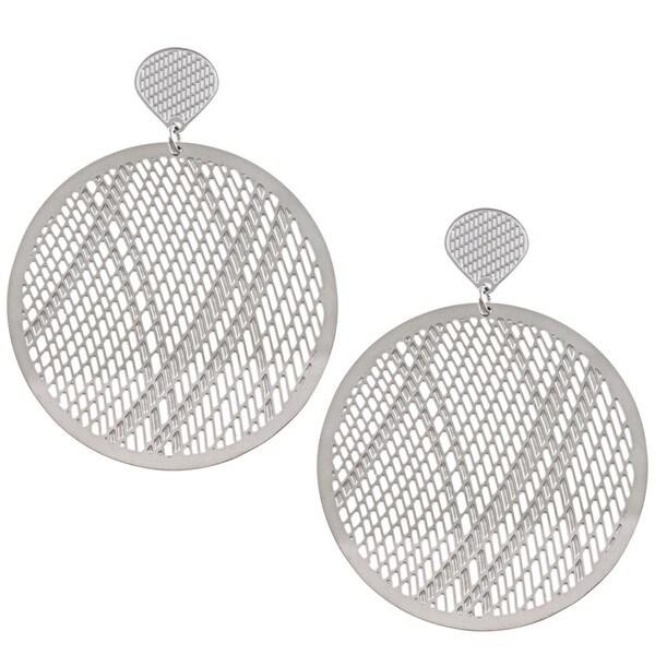 La Preciosa Stainless Steel Large Circle Earrings