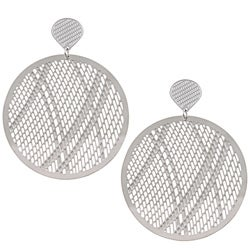 La Preciosa Stainless Steel Large Circle Earrings