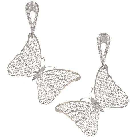 La Preciosa Stainless Steel Butterfly Earrings