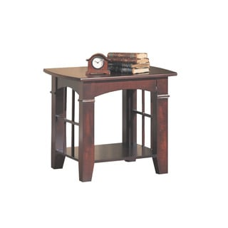 Cherry Transitional End Table