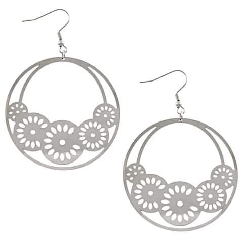La Preciosa Stainless Steel Multiple Circle Earrings