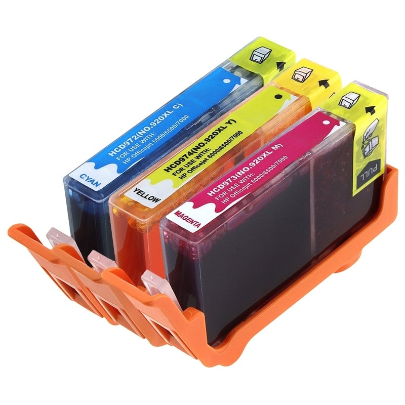 HP Compatible 920XL/ Officejet 6000 Cyan/ Magenta/ Yellow Ink Cartridges
