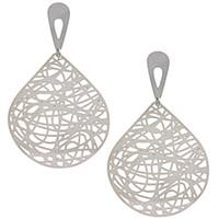 La Preciosa Stainless Steel Large Line Design Earrings