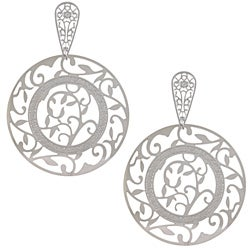 La Preciosa Stainless Steel Large Circle Dangle Earrings