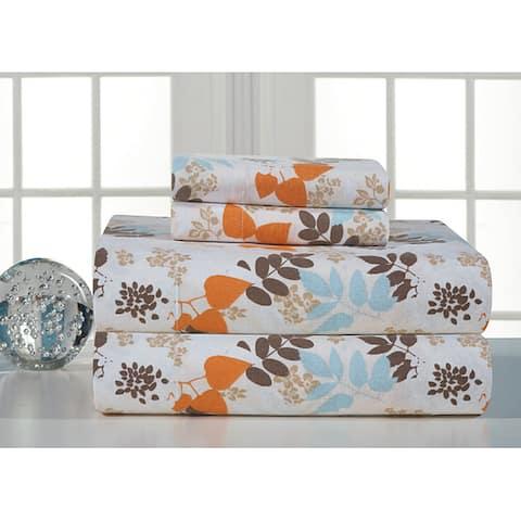 Winter Breeze Flannel Bed Sheet Set