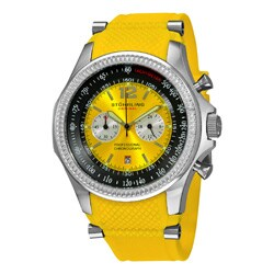 Stuhrling Original Men's Targa Sport Quartz Chronograph Yellow Watch