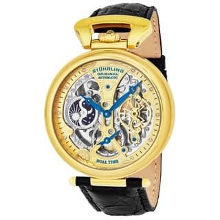 Stuhrling Original Men's Emperor's Grandeur Automatic Watch with Black Leather Strap|https://ak1.ostkcdn.com/images/products/6223425/Stuhrling-Original-Mens-Emperors-Grandeur-Automatic-Watch-P13867390.jpg?impolicy=medium