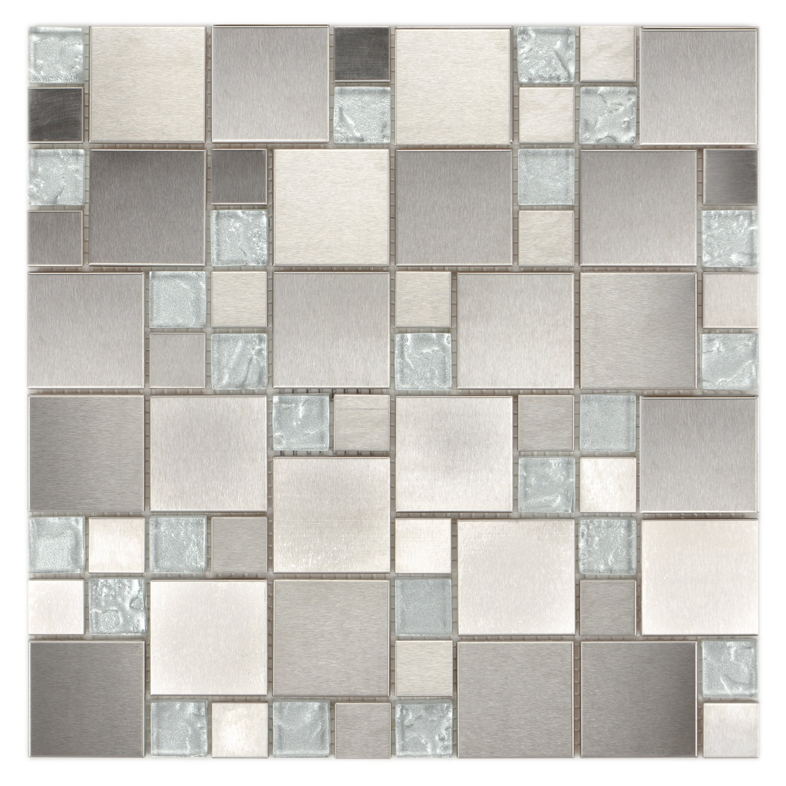 Icl Glass Metal Mix Tiles Case Of 11 Free Shipping