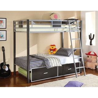 Furniture of america linden ii 2 piece full over full for Furniture of america pello full over full slatted bunk bed