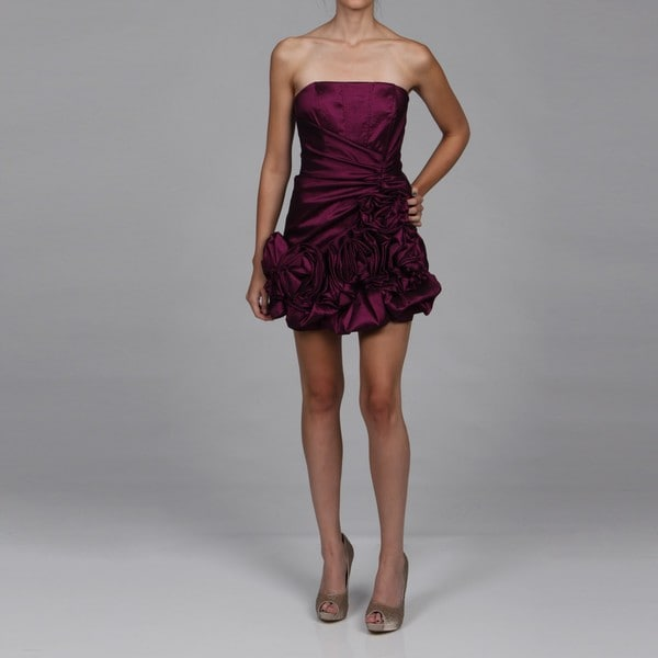 Shop Jessica Mcclintock Women S Amethyst Ruffle Dress