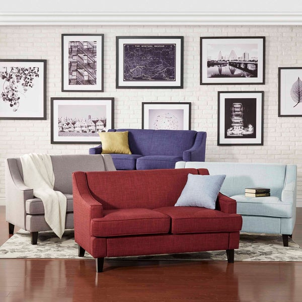 Winslow Concave Arm Modern Loveseat by INSPIRE Q