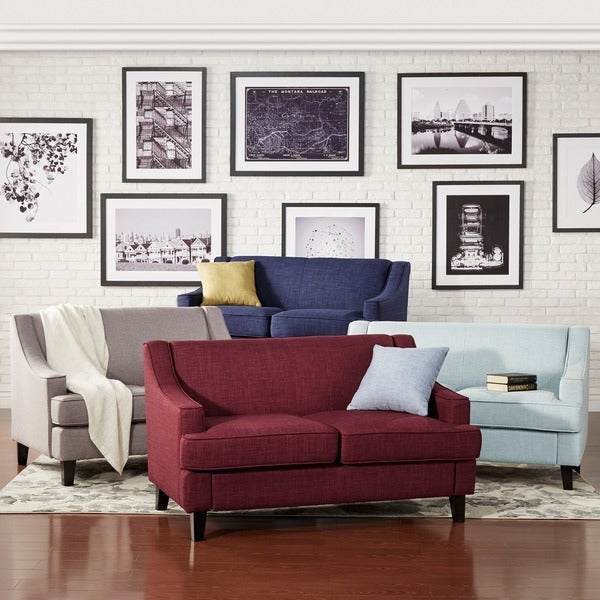 Winslow Concave Arm Modern Loveseat by iNSPIRE Q Bold