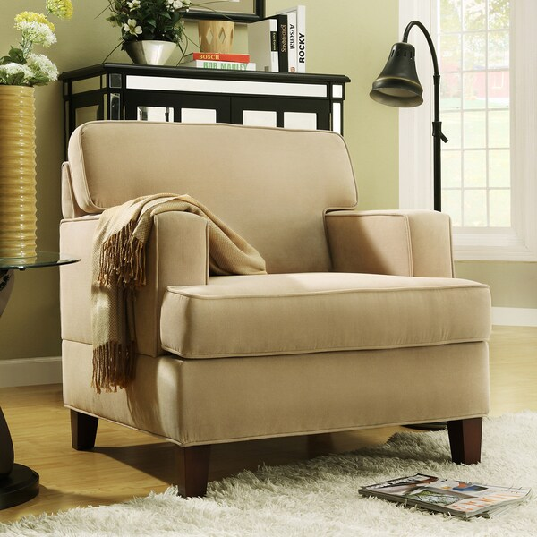 Shop Stewart Beige Track Arm Modern Accent Chair Free