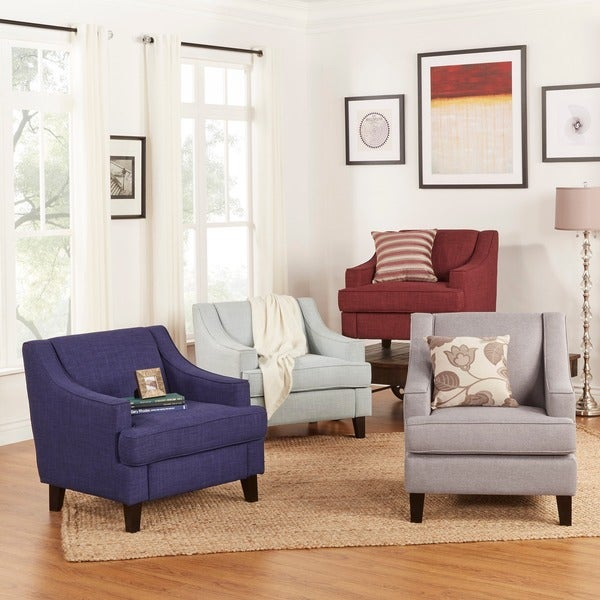INSPIRE Q Winslow Concave Arm Modern Accent Chair
