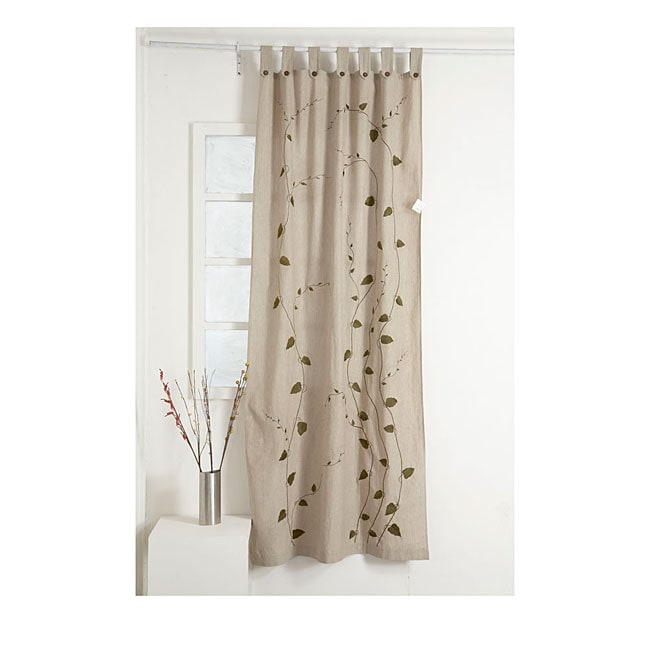 Cream 92-inch Curtain Panel (India)