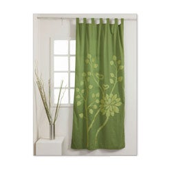 Emerald 92 Inch Curtain Panel Handmade In India Free