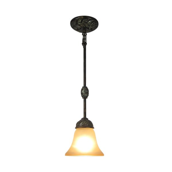 Woodbridge Lighting Vergennes 1-light Bark Mini Pendant Light