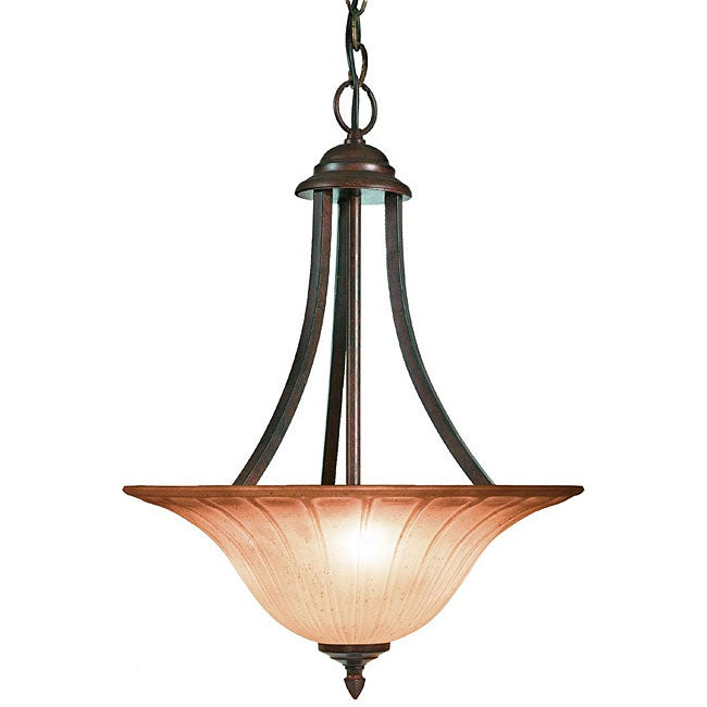Woodbridge Lighting Broadmore 3-light Bordeaux Pendant Light - Thumbnail 0