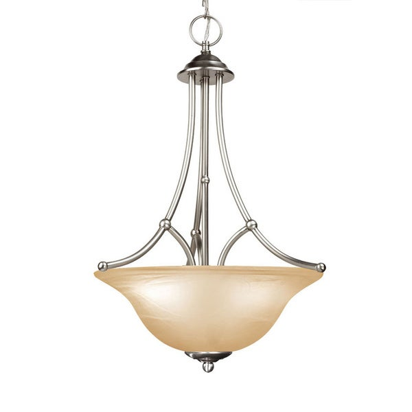 Woodbridge Lighting Anson 3-light Satin Nickel Pendant Light