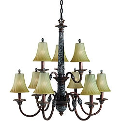 Woodbridge Lighting Vergennes 9-light Bark Chandelier