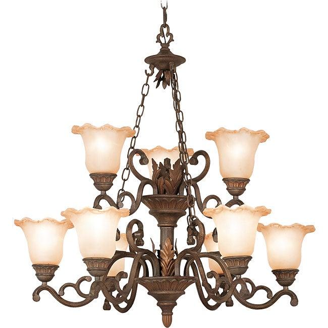 Woodbridge Lighting Elegante 9-light Gothic Bronze Chandelier
