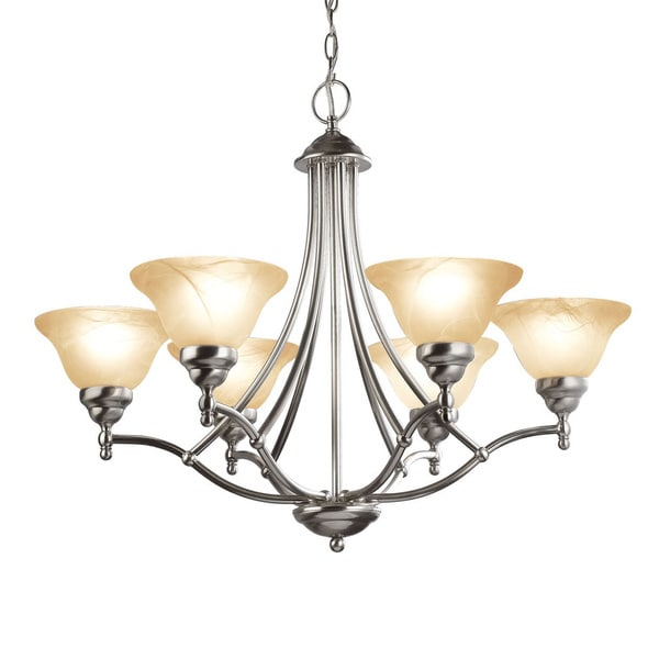Woodbridge Lighting Anson 6-light Satin Nickel Chandelier
