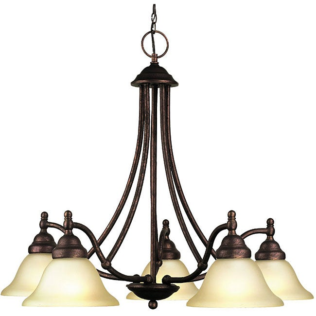 Woodbridge Lighting Anson 5-light Marbled Bronze Chandelier